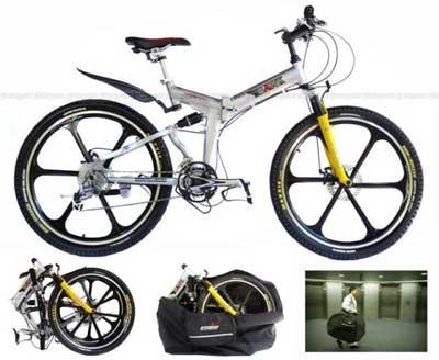 World S First Dual Suspension Folding Bike