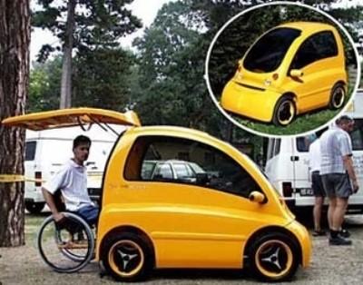 سيارة الأعاقة الأولى العالم