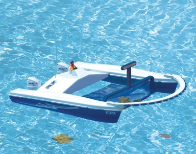 Remote Control Toy Boat as Pool Cleaner