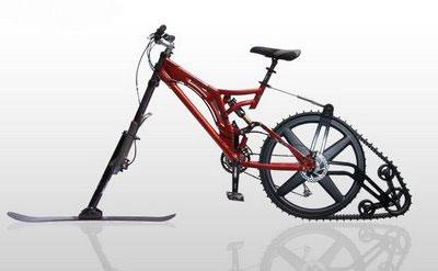 SnowBike Ktrak   From Bike into a Snow Toy
