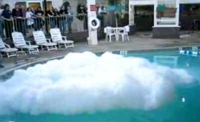 Liquid Nitrogen In A Swimming Pool
