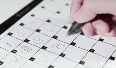 pilot hand writing
