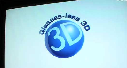 glasses-less 3d tv
