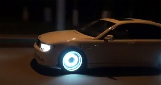 Glow In The Dark Rims On A BMW