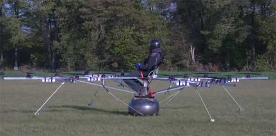Electric Multicopter - World's First With a Pilot