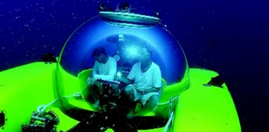 Deep Diving In Glass Sphere Submarines