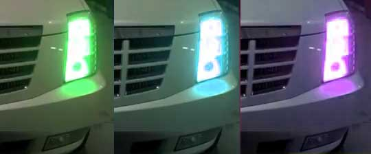 Color Changing Headlights