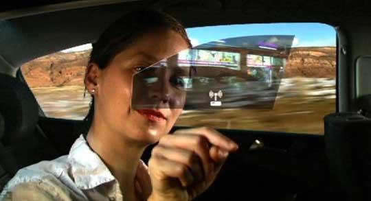 Car Window Interactive Display