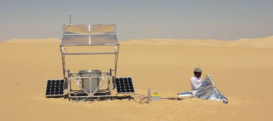 3D Printer With Sand and Solar Energy