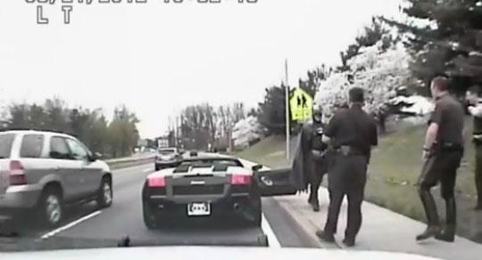 Cops Pull Over Batman