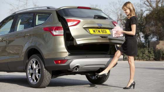 Ford's Kuga - New Kick-Activated Tailgate