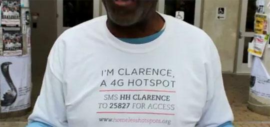 Homeless People Wear Wi-Fi Hotspots