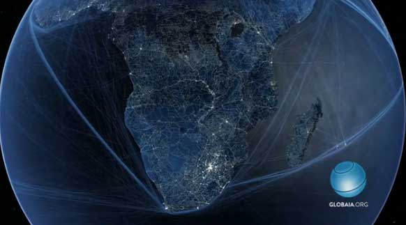 Amazing Video of All The Major Routes on Earth