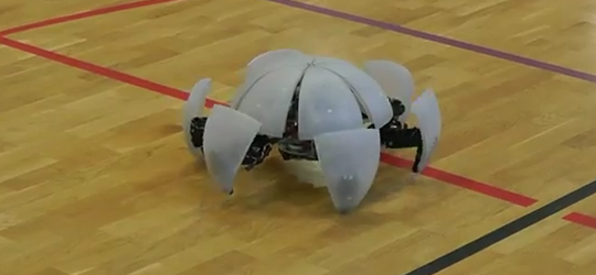 MorpHex Robot Can Morph Into a Ball and Roll !