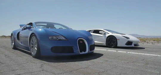Bugatti Veyron vs Lamborghini Aventador