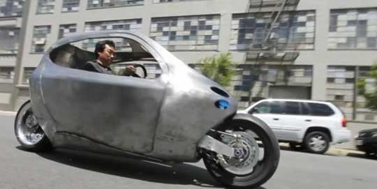 Lit Motors's Self-Balancing Electric Motorcycle Prototype