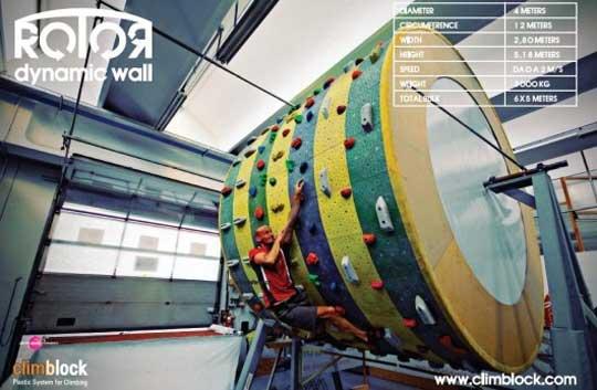 Perpetual Rock Climbing - Climblock Rotor Wall
