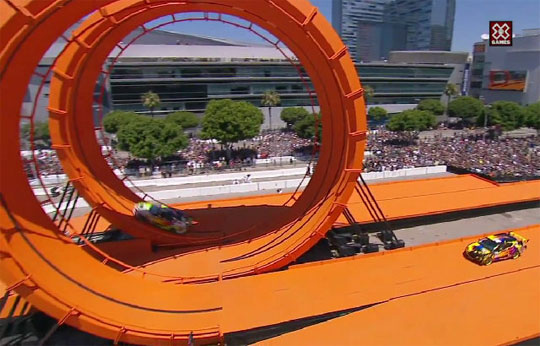 Real Life Hot Wheels Doing Loopty-Loops