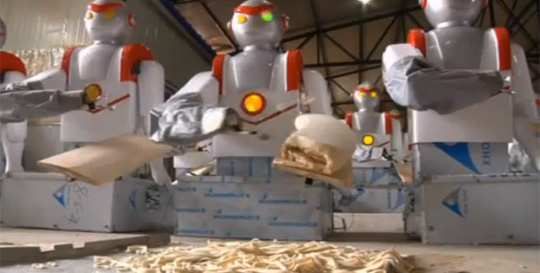 Robot Chef Taking Over Noodle Making