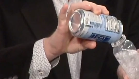 How to Defuse a Shaken Soda Can