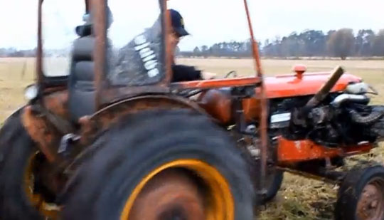 Fastest Tractor In The World - with a Turbo Volvo Engine