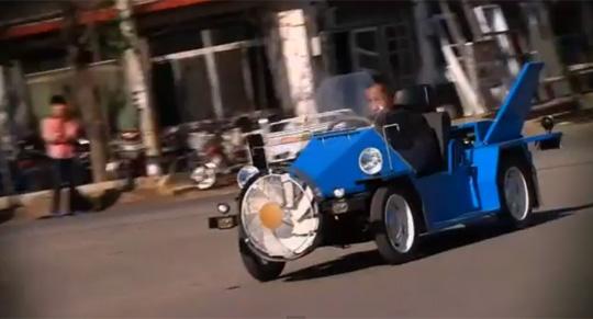 China's Wind-Powered Car