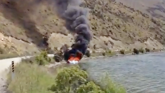 boat, fire, cool, firefighting