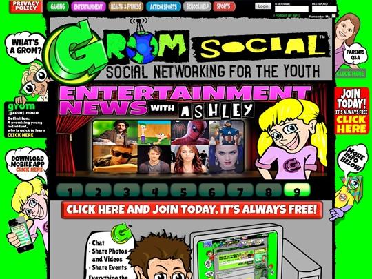 GromSocial, social network, children, kids,