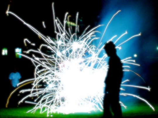 Fireworks, the science of