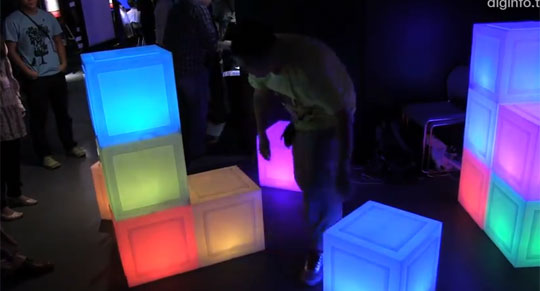 Glowing-Blocks Furniture Change Colors When Combined