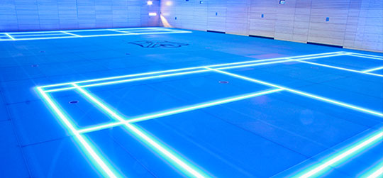 ASB GlassFloor - Replaces Painted Lines with LEDs