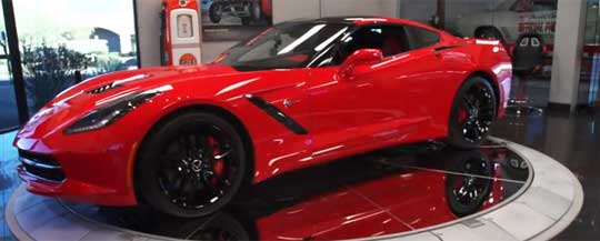 Jay Leno Takes a First Look at the New Corvette Stingray