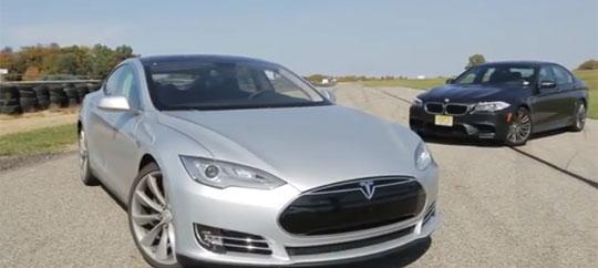 Tesla Model S - VS - BMW A5 A 560 Horsepower