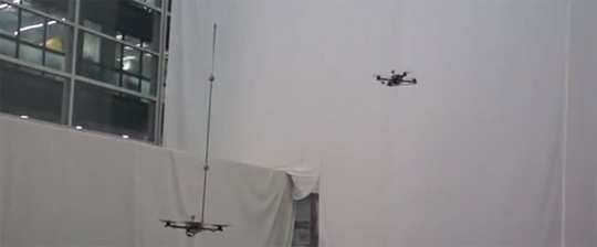 Quadrocopter Playing Catch with a Pole