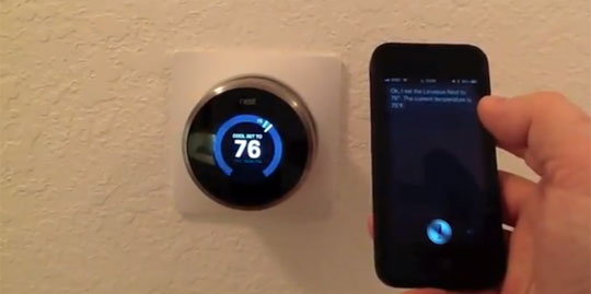 Siri Modified to Control a House