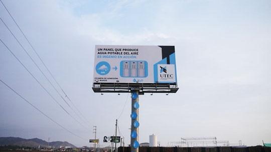 Water Producing Billboard Feeds Villages