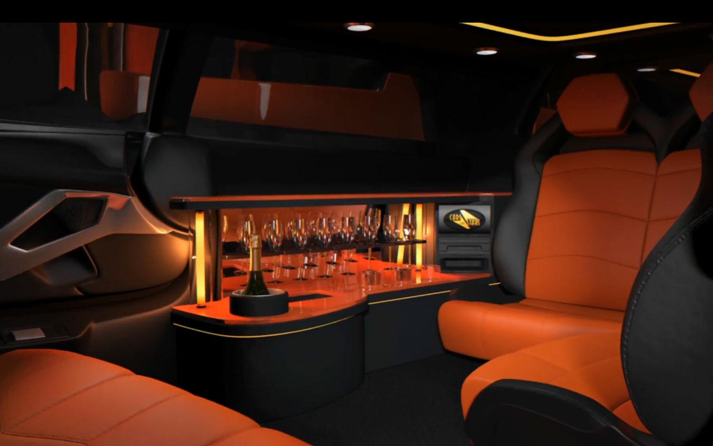 Lamborghini, Aventador Limousine, bar