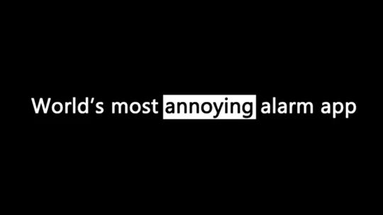 Sleep If U Can, alarm,