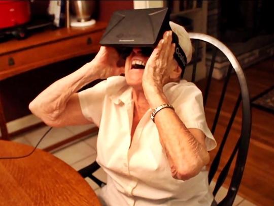 Oculus Rift, Virtual Reality, Grandmother