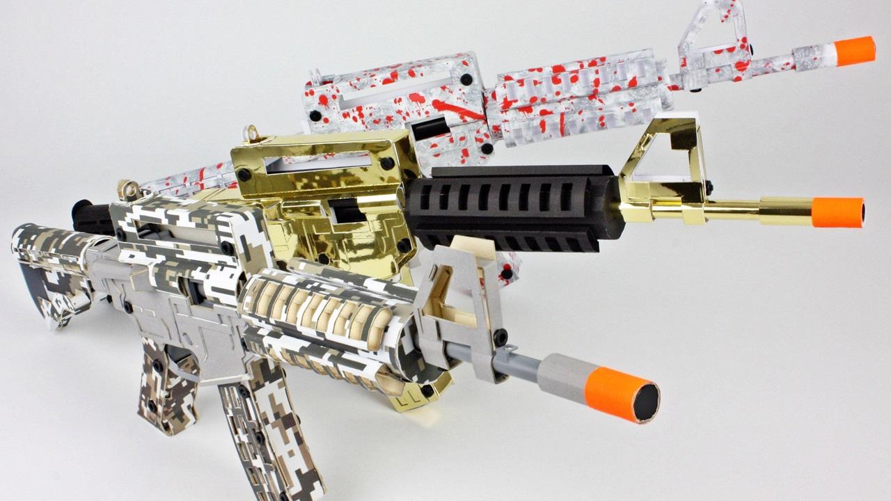 Paper Shooters, paper gun,