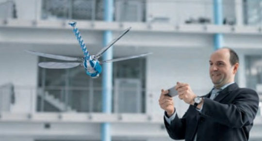 Festo Demonstrates BionicOpter Dragonfly Robot