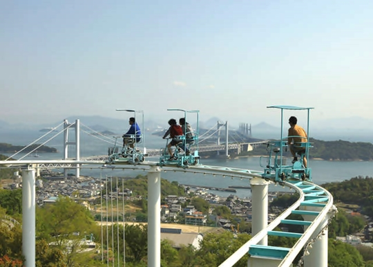 A Roller Coaster You Power With Your Feet - Sky Cycle at Washuzan Highland Park