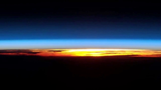 Sunrise In The International Space Station