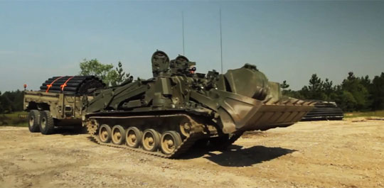 World's First Remote Controlled Tank-bulldozer