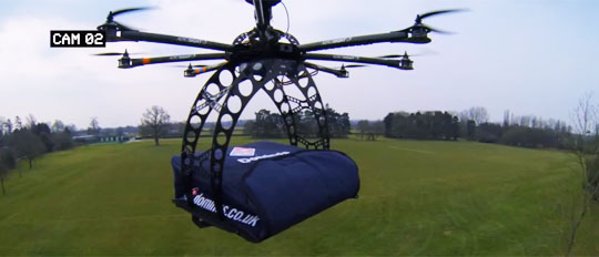 Pretty Soon Pizzas Will Be Delivered by Quadcopter Drones