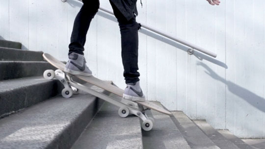 Stair-descending Skateboard