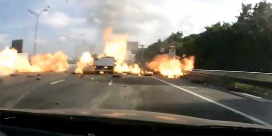 Ever Wondered What Happens When a Truck Carrying Gas Crashes?