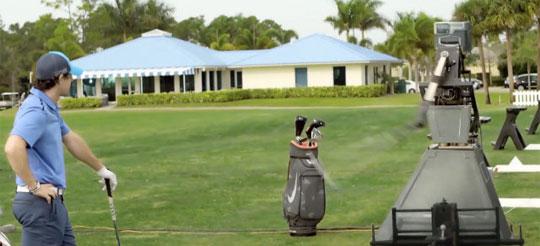 Pro Golfer Battles Robot