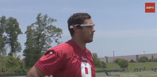 NFL Players Try Google Glass