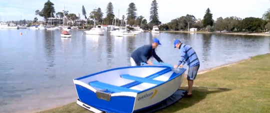 The Boat that Assembles Under a Minute - Quickboats
